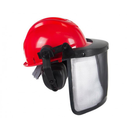 Capacete segurança com protetor facial e auditivo - LEDAN - Procampo ... 79c434611a
